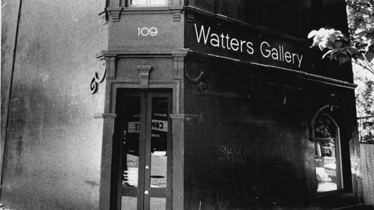 The Watters Gallery building in Riley Street was previously owned by gangster Joe Borg.