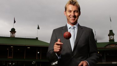 Brett Lee announces his retirement at the SCG on Thursday.