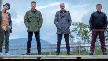 L-R: Ewen Bremner, Ewan McGregor, Jonny Lee Miller and  Robert Carlyle in <i>T2 Trainspotting</i>.