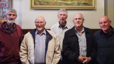 Five of the letter's signatories gathered late last week in Tamworth. (Left to right:) Ian Daniells, Ian Collett, Brian Tomalin, Robert Duns and Rick Young.