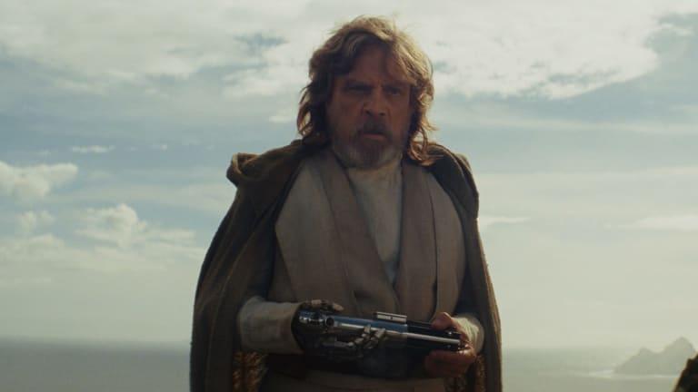 Luke Skywalker (played by Mark Hamill) in Star Wars: The Last Jedi. Photo: Lucasfilm Ltd. .