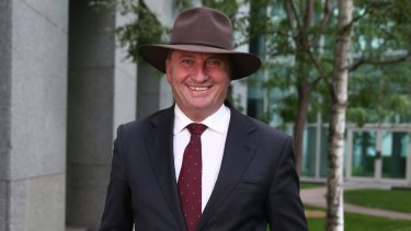 Barnaby Joyce at Parliament House  on Thursday.
