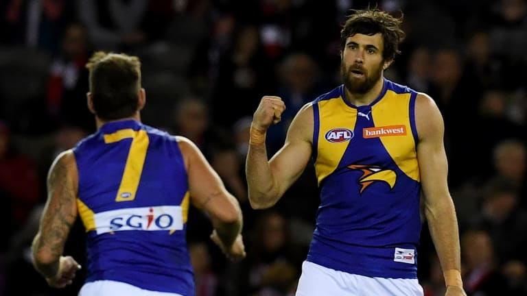 West Coast forward Josh Kennedy will be sidelined until March with an ankle injury.