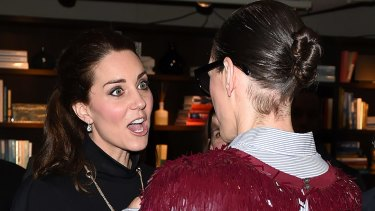 Kate Middleton was as cool as a cucumber when she met Beyonce during her three day visit to New York this week, however she lost her regally rewired mind when she was introduced to J.Crew creative director Jenna Lyons.