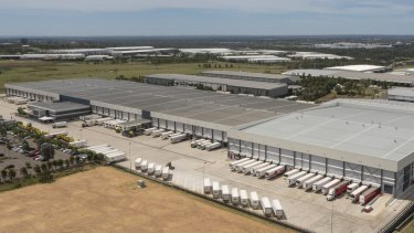 Coles' distribution centre at Eastern Creek was raided by police.