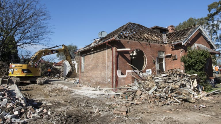 This house in Haberfield was demolished in August.