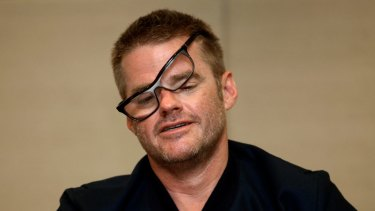 Dishevelled: Heston Blumenthal at Melbourne's Crown Casino.
