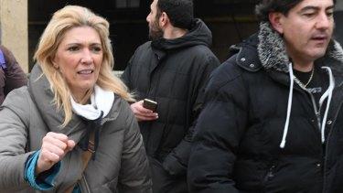 Simona Di Carlo, the aunt of Edoardo Di Carlo, one of three children pulled from the snow.