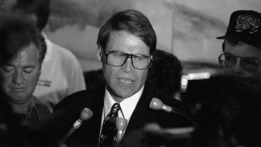 Senator John Faulkner during his time as Sports Minister in 1994.