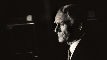 Malcom Fraser fights back tears after losing the 1983 election.