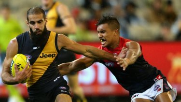 Richmond footballer Bachar Houli (left)