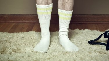 When making out with everything off but your socks, it makes a sorry sight, so much more sorrier.