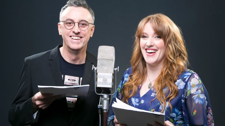 Tony Martin and Geraldine Quinn will record Martin's sitcom, Childproof, as a podcast at this year's Fringe Festival.