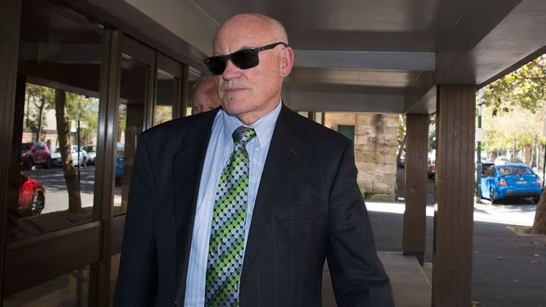 Ian Macdonald outside the Supreme Court in Darlinghurst during his trial in March.