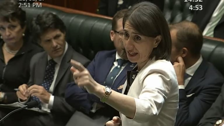 NSW Premier Gladys Berejiklian after she was asked about the land titles registry privatisation during Question Time on Thursday.