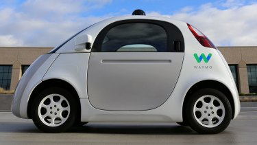 Google's Waymo driverless car. Auto manufacturers and tech companies are investing heavily in self-driving technology.