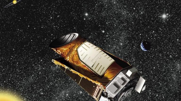 An artist's impression of NASA's Kepler space telescope.