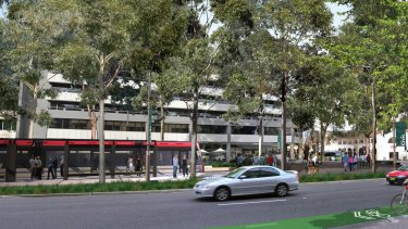 Development application coming: an artist's impression of the Canberra light rail.