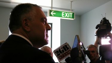 Treasurer Joe Hockey takes questions from the media on Wednesday.