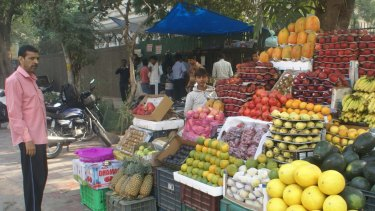 Greengrocer Bittu Bharati in Lajpat Nagar, south Delhi, has been offered payment in advance for the fruit his clients will buy over the next year.