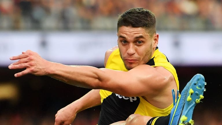 Dion Prestia joins fellow recruit Toby Nankervis on the sidelines