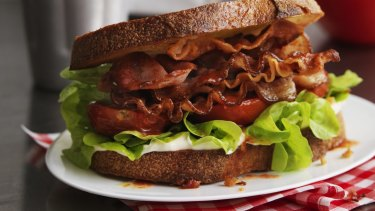 Bacon is better than lettuce when it comes to greenhouse gas emissions, the study suggests.