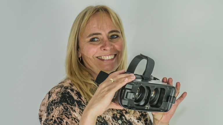 Counsellor Mae van Rensburg is working on a virtual reality solution to help treat PTSD.