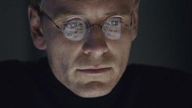 Michael Fassbender as Steve Jobs in <i>Steve Jobs</i>.
