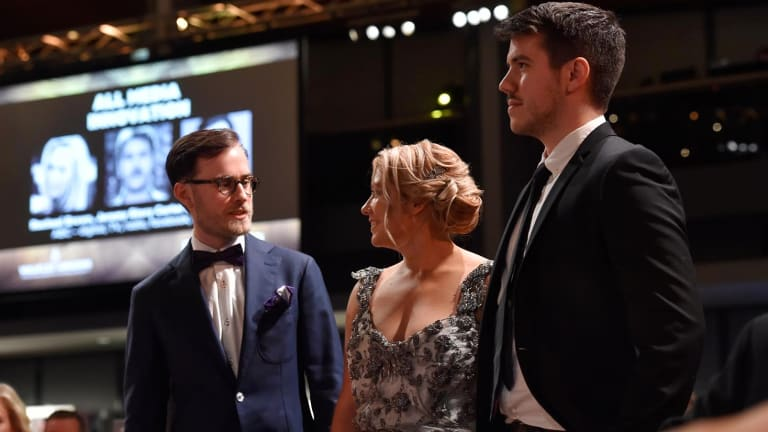 Jesse Cox (left) at this year's Walkley Awards, hosted in November.