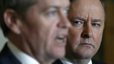 """Labor frontbencher Anthony Albanese, pictured with leader Bill Shorten, says he has """"real concerns"""" about the handling of the party's asylum seeker policy."""