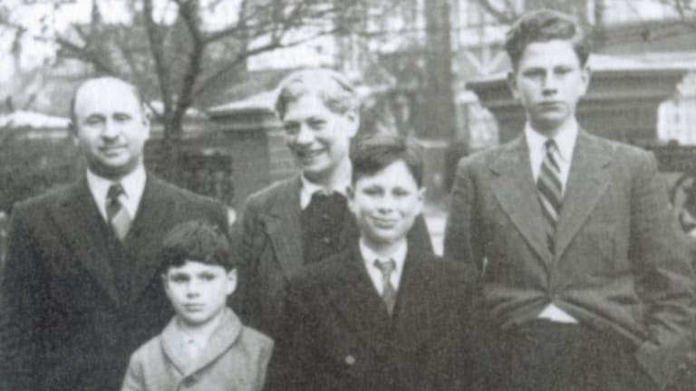 A young Oliver Sacks, second from left, with his family in 1940
