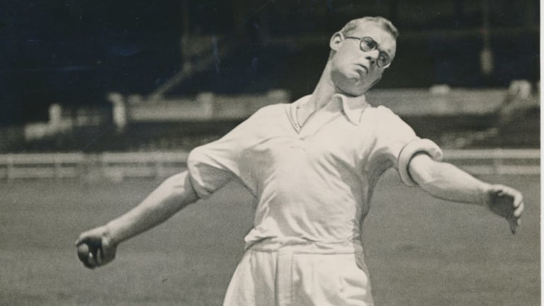 Bill Bowes, part of England's Bodyline attack.