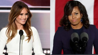 Melania Trump and Michelle Obama met at the White House on Thursday.