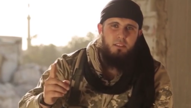 An image from the propaganda video featuring Australian Islamic State fighter 'Abu Adam'.