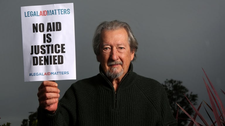 Actor Michael Caton who is advocating for more public access to legal aid.
