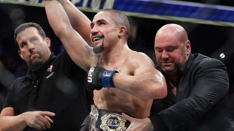 New No.1: Robert Whittaker will make his first title defence in Perth next year.