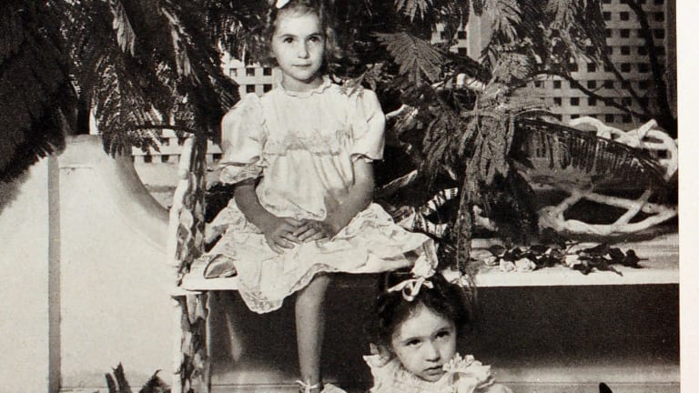 Luciana and Marcella (Nike) Arrighi as children.