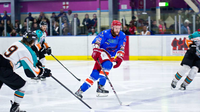 Canberra Brave recruit Geordie Wudrick [red and blue] has joined the team from Newcastle North Stars.