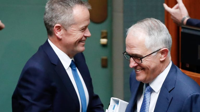 Prime Minister Malcolm Turnbull and Opposition Leader Bill Shorten were at loggerheads over a raid on the office of the Australian Workers Union.