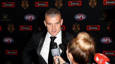 Brownlow favourite Dustin Martin snuck in late.