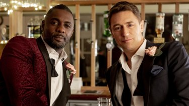 Idris Elba with J. J. Feild in Turn Up Charlie.