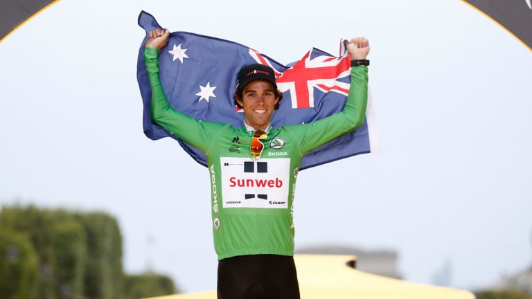 Australia's Michael Matthews has secured the green jersey in the Tour de France.