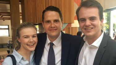 Preselection candidate Stephanie Ross, Brighton Liberal James Newbury, and party numbers man Marcus Bastiaan.