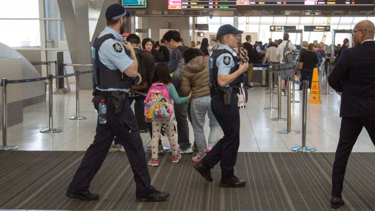 Security at all airports has been stepped up in light of the counter-terrorism operation.