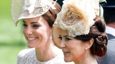 Mary, Crown Princess of Denmark, and Catherine, Duchess of Cambridge, made a stylish pair on Wednesday as they caught up at Royal Ascot.