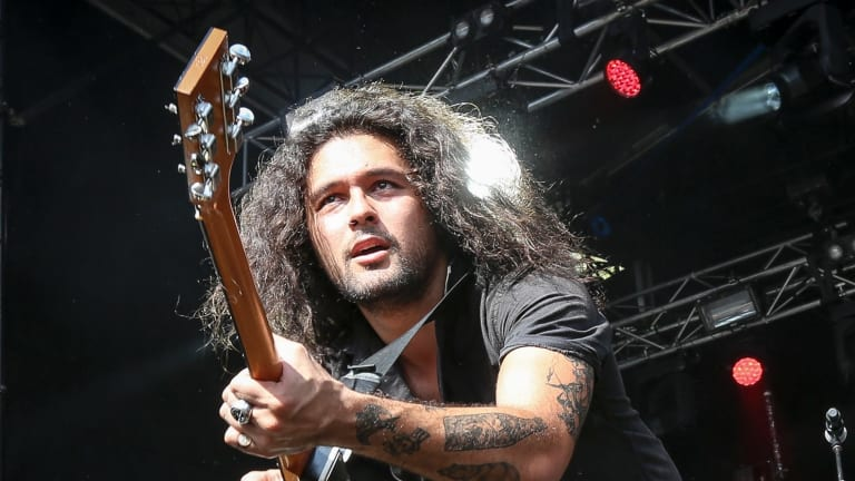 Gang of Youths lead singer David Le'aupepe. The band has snapped up eight ARIA nominations this year.