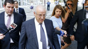Now-jailed Eddie Obeid, shown here outside the NSW Supreme Court last December.