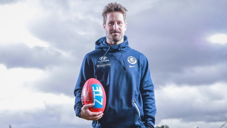 Kicking goals: Matthew Wright is confident the Blues' forward line will be firing in season 2018.