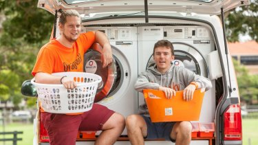 While well intentioned, services like Orange Sky Laundry, set up by Brisbane founders Lucas Patchett and Nicholas Marchesi, help normalise homelessness, argues Dr Cameron Parsell.