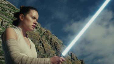 But she's a girl: Daisy Ridley as Rey in the rebooted female-led Star Wars.